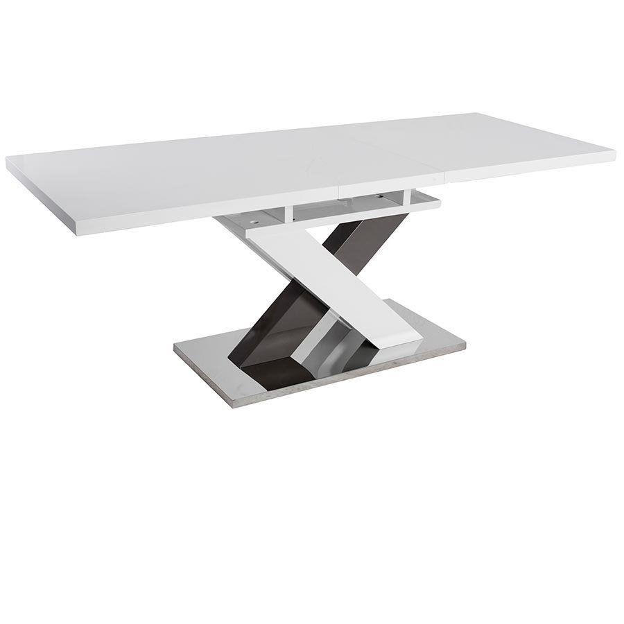 Uitschuifbare Eettafel Wit.Uitschuifbare Eettafel Neofurn Duo Hoogglans Wit