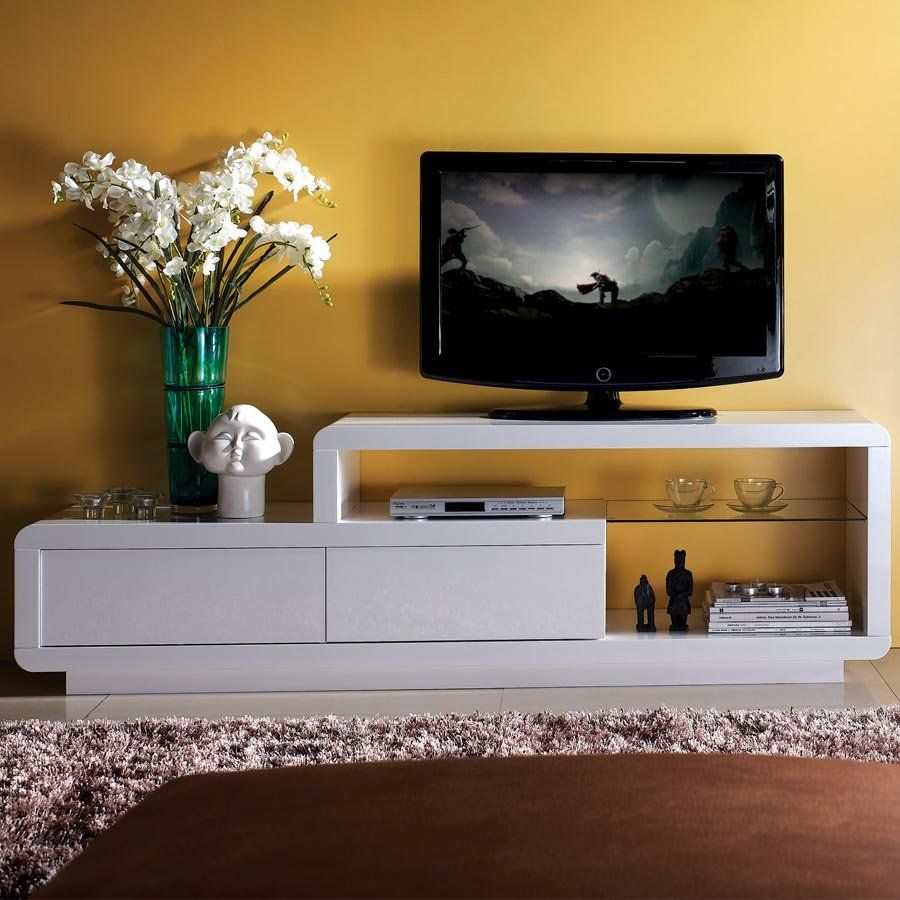 Design Hoogglans Tv Meubel.Tv Meubel Jovani Design Hoogglans Delia Hoogglans Wit Met Led