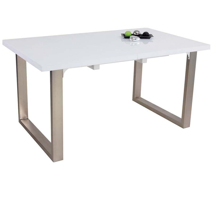 Eettafel Hoogglans Wit 150.Uitschuifbare Eettafel Neofurn Ray Hoogglans Wit