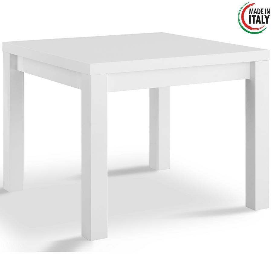 Vierkante Eettafel Wit.Eettafel Venezia Hoogglans Wit 100x100