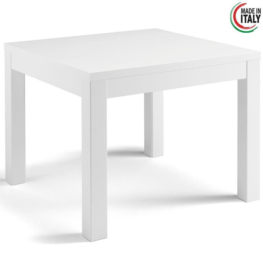 Vierkante Eettafel Hoogglans Wit.Eettafel Roma Hoogglans Wit 100x100
