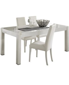 Bianca White Eettafel hoogglans wit