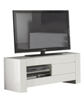 Biance White tv-meubel S Hoogglans Wit