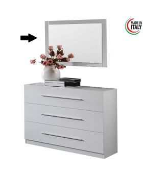 Commode Spiegel Star White Hoogglans Wit