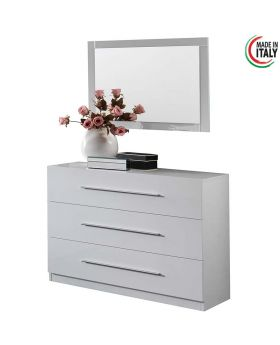 Italiaans hoogglans witte commode Star White