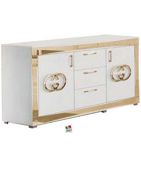 Italiaans hoogglans Luxury dressoir wit en goud