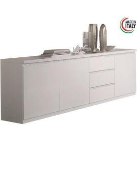 Hoogglans wit dressoir Roma Cromo XL