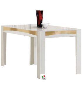 Eettafel Luxury hoogglans wit en goud