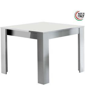 Eettafel modena hoogglans wit