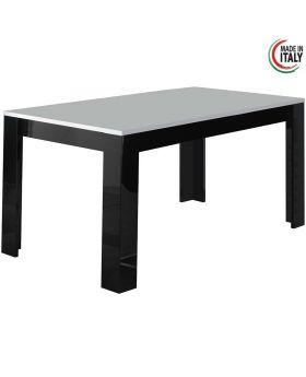 Eettafel Modena Hoogglans wit en zwart