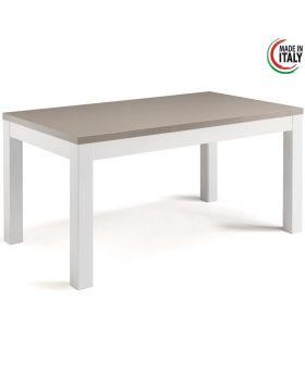 Eettafel Roma hoogglans wit en licht grijs