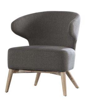 Gustav fauteuil Curvo grijs