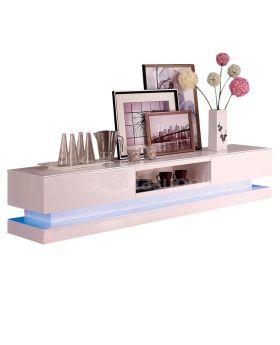 TV-meubel Jovani Design Step hoogglans wit met LED verlichting
