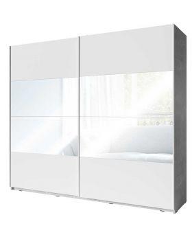 Kledingkast Soma XL Mat Wit en Beton