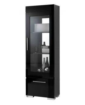 Kristal vitrinekast italiaans hoogglans zwart