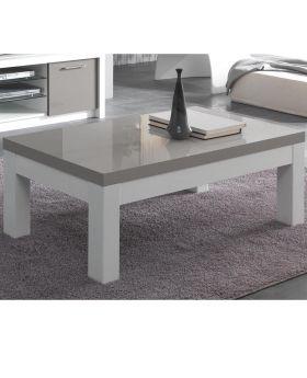 Salontafel Fano hoogglans wit en grijs