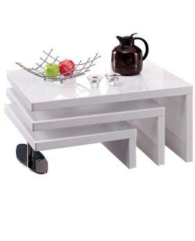 Salontafel Jovani Design level hoogglans wit
