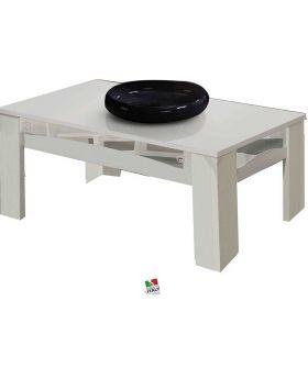 Luxury salontafel hoogglans wit en zilver
