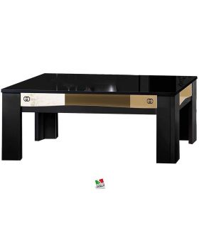 Salontafel Luxury hoogglans zwart en goud