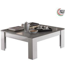 Salontafel Modena hoogglans wit en grijs