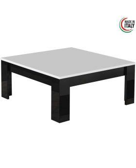 salontafel Modena Hoogglans wit en zwart