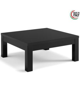 Vierkante salontafel Roma hoogglans zwart