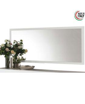 Hoogglans witte spiegel Greta