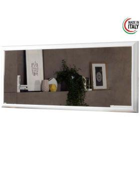 Italiaans hoogglans spiegel Luna wit