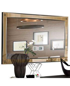 Spiegel Luxury hoogglans zwart en goud