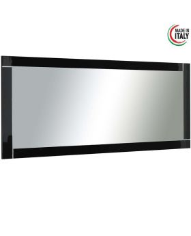 hoogglans zwarte italiaans design spiegel modena