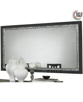 Spiegel Roma Cromo hoogglans zwart