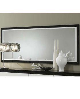 Spiegel Roma Hoogglans wit en zwart