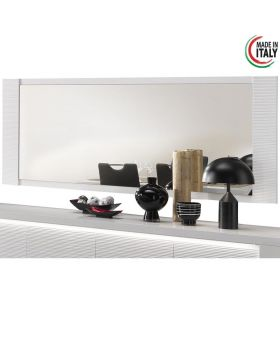 Spiegel Venezia hoogglans wit