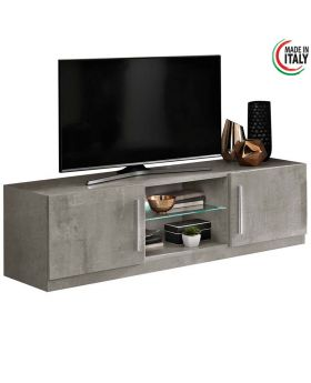 Tv-meubel Greta 2D hoogglans marmer