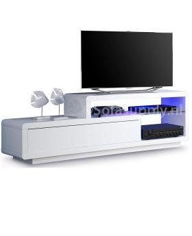 Tv-meubel Jovani Design Delia hoogglans wit met led verlichting