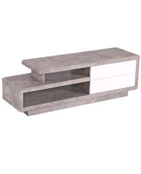 Tv-meubel Mallow hoogglans wit en marmer