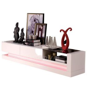 Tv-meubel Jovani Design Twist hoogglans wit met led