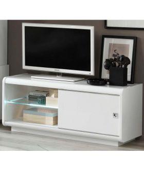 Tv-meubel Luna 1D Hoogglans Wit