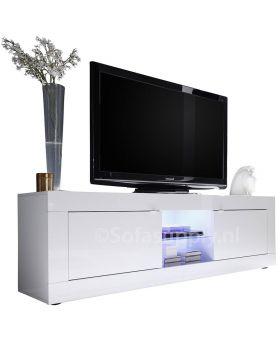 Tv-meubel Italiaans hoogglans wit Mobili Basic