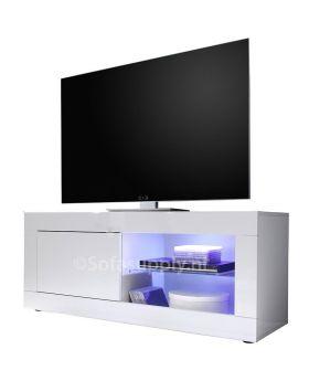 Hoogglans wit tv-meubel Mobili Basic
