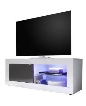 Tv-meubel Mobili Basic S hoogglans wit en antraciet