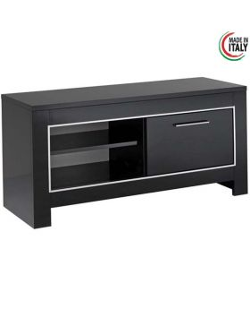 tv-meubel Modena 1D Hoogglans Zwart