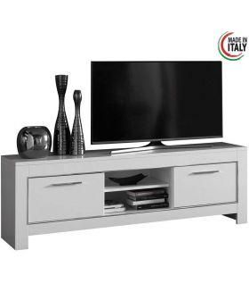 Tv-meubel Modena Hoogglans wit 2D