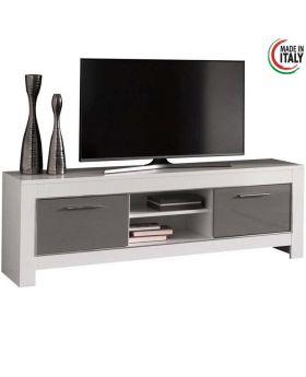Tv-meubel Modena Hoogglans wit en grijs