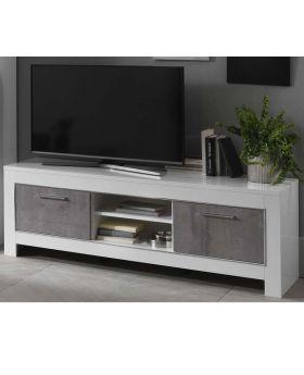 Tv-meubel Modena 2D Hoogglans Wit en Marmer