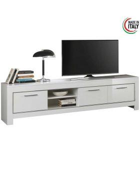 Hoogglans wit tv-meubel Modena 3D