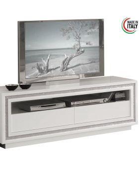 Tv-meubel Prestige hoogglans wit swarovski