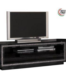 Tv-meubel Prestige hoogglans zwart met Swarovski