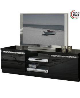 Tv-meubel Roma Cromo hoogglans zwart