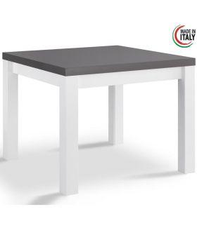 Eetkamertafel Venezia hoogglans wit en grijs